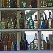 Antique Bottle Collection  Poster