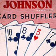 Antique Card Shuffler Poster