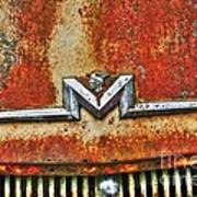 Antique Mercury Auto Logo Poster