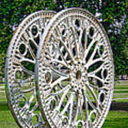 Antique Paddle Wheel University Of Alabama Birmingham Poster
