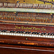 Antique Piano Poster