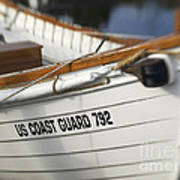 Antique Us Coast Guard Boat Poster