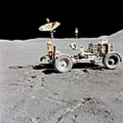 Apollo 15 Lunar Roving Vehicle Poster
