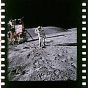 Apollo 16 Astronauts Poster