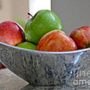 Apples In Fruit Bowl Poster