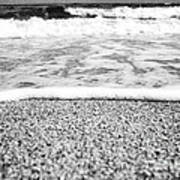 Approaching Wave - Black And White Poster