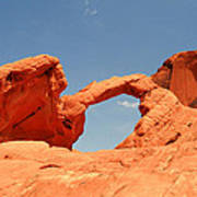 Arch Rock In Valley Of Fire Poster
