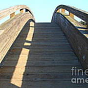 Arched Pedestrian Bridge At Martinez Regional Shoreline Park In Martinez California . 7d10526 Poster