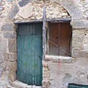 Arched Stone Work Over Door Poster