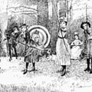Archery, 1886 Poster