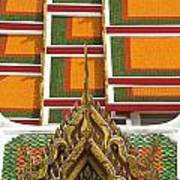 Architectural Detail Of Wat Pho Temple Poster
