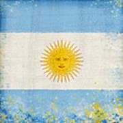 Argentina Flag Poster by Setsiri Silapasuwanchai