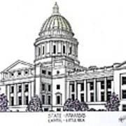 Arkansas State Capitol Poster by Frederic Kohli