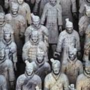 Army Of Terracotta Warriors In Xian Poster