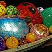 Art Glass Balls In Boat Poster