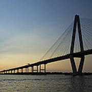 Arthur Ravenel Jr Bridge Over The Cooper River Charleston Sc Poster