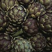 Artichokes At A Market In Provence Poster