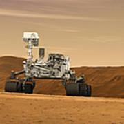 Artist Concept Of Nasas Mars Science Poster