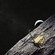 Artist Concept Of The Lunar Poster