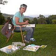 Artist In Action En Plein Air Poster