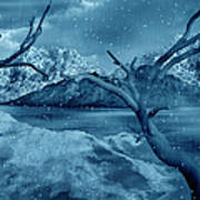 Artists Concept Of A Dangerous Snow Poster by Mark Stevenson
