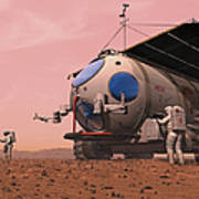 Artists Concept Of How A Martian Poster