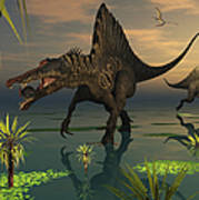 Artists Concept Of Spinosaurus Poster