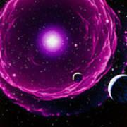 Artwork Of A Future Sun Ejecting Planetary Nebula Poster