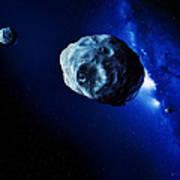 Asteroids Poster by Detlev Van Ravenswaay