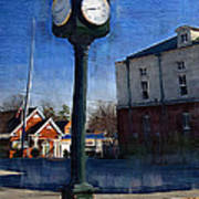 Athens Alabama City Clock Poster