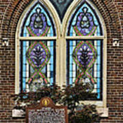 Athens Alabama First Presbyterian Church Stained Glass Window Poster