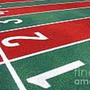 Athletic Track Markings With Numbers Poster