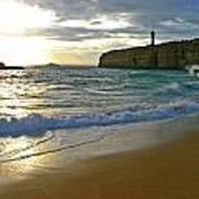 Atlantic Ocean Meets The Portugese Coast Poster