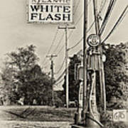 Atlantic White Flash Poster