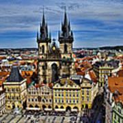 Atop The Clock Tower - Prague Poster