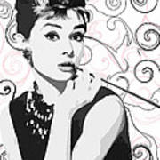 Audrey With A Twist Poster