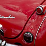Austin-healey Tail Light And Emblem Poster