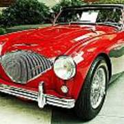 Austin Healy Poster by Cathie Tyler