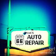Auto Repair Sign On Route 66 Poster