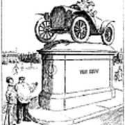 Automobile Cartoon, 1914 Poster