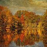 Autumn - Landscape - Tamaques Park - Autumn In Westfield Nj  Poster by Mike Savad