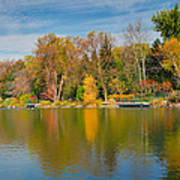 Autumn At Mill Pond Park Poster by Luba Citrin