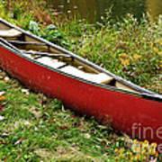 Autumn Canoe Poster by Thomas R Fletcher