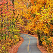 Autumn Drive Signal Mountain Poster