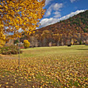 Autumn Foliage Scenery On Mohawk Trail Poster