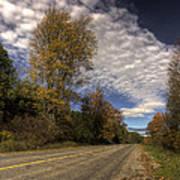 Autumn Highway Poster