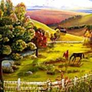 Autumn In The Valley Poster