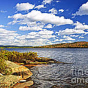 Autumn Lake Shore Poster