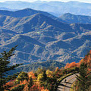 Autumn On The Blue Ridge Parkway Poster