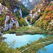 Autumn Valley Landscape Poster